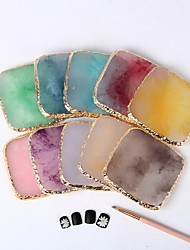 cheap -manicure phnom penh agate sheet new japanese-style natural multi-color agate paint palette resin craft palette