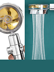 cheap -Shower Head Water Saving Flow 360 Degrees Rotating With Small Fan Abs Rain High-Pressure Spray Nozzle Bathroom Accessories