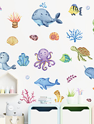 cheap -submarine octopus, sea lion, whale tortoise, children's bedroom porch wall decoration wall sticker