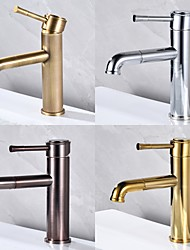 cheap -Bathroom Sink Faucet - Pull Out Oil-Rubbed Bronze / Antique Brass Centerset Single Handle One Holebath Taps