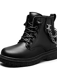 cheap -Girls' Boots Cowboy / Western Boots Bootie Combat Boots PU Casual / Daily Combat Boots Big Kids(7years +) Little Kids(4-7ys) Daily Black Beige Fall Spring / Booties / Ankle Boots / Martin Boots