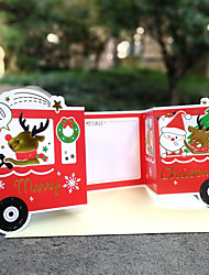 cheap -taiwan creative christmas greeting card decoration christmas eve gift thank you blessing card surprise red cart