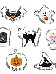 cheap -7pcs Set Stainless Steel Halloween Bat Ghost Pumpkin Cookie Cutter Cake Decorating Fondant Cutters Tool Cookies Biscoito Mold Baking