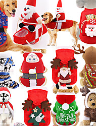 cheap -Dog Cat Christmas Costume Christmas Santa Claus Santa Claus Adorable Cute Christmas Casual / Daily Dog Clothes Puppy Clothes Dog Outfits Brown Costume for Girl and Boy Dog Cotton Fabric Cotton XXL