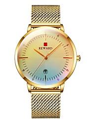 cheap -Reward Luxury Brand Men Analog Sports Fashion Watch Magic Iridescent Crystal Glass Men's  Military Watch Date Quartz Clock