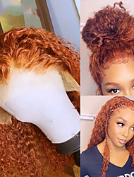 cheap -13x4 Lace Orange T Part Lace Front Human Hair Wigs 180% Curly Deep Water Wave Wig Glueless Pre Plucked With Baby Hair