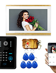 cheap -LITBest Wired & Wireless Photographed / Recording / RFID 9.7 inch Hands-free One to One video doorphone