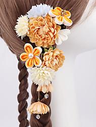 cheap -Japanese Hand-made And Wind Jewelry Yukata Hanfu Zou Cloth Silk Flower Photo Accessories Hairpin Japan COS Kimono Hair Accessories