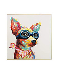 cheap -Oil Painting Handmade Hand Painted Wall Art Modern Animal Pet Dog Home Decoration Decor Rolled Canvas No Frame Unstretched