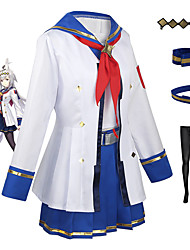 cheap -Inspired by Pretty Derby Silence Suzuka Anime Cosplay Costumes Japanese Cosplay Suits Top Skirt Stockings For Women's / Tie / Headwear / 1 Belt