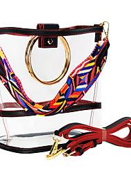 cheap -Women's Bags PVC Plastic Crossbody Bag Outdoor Handbags Rainbow