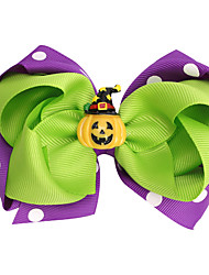 cheap -1pcs Kids / Toddler Girls' Active / Sweet Halloween / Festival Color Block Patchwork Hair Accessories Purple / Green / Orange
