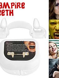 cheap -New Retractable Vampire Teeth Dentures Zombie Teeth Silicone Dentures Halloween Decoration Horror Vampire Party Props Decoration