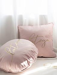 cheap -Velvet Bronzing Pillow Velvet Embroidery Square Cushion Gold Printing Letter Cushion Model Room Homestay Decoration Waist Back