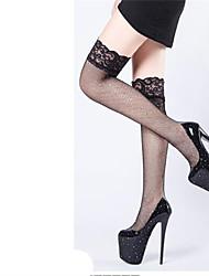 cheap -Women's Heels Stiletto Heel Round Toe Party Wedding PU Elastic Fabric Solid Colored Black