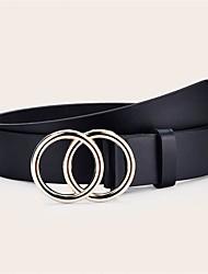 cheap -Women's Waist Belt Daily Dress Black Belt Solid Color