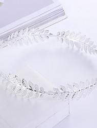 cheap -3 Pcs/set Creative New Bridal Headband Baroque Metal Leaf Headband Headband European And American Headband