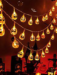 cheap -Halloween Pumpkin String Lights Battery Fairy Light 6M 3M 1.5M Halloween Party Garden Room Holiday Decoration