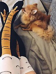 cheap -Fashion Comfort Women's Socks Cartoon Stockings Socks Medium Casual Black 4 1 Pair / Casual Socks / Cute