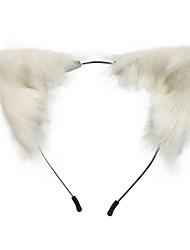 cheap -Hair Substitute Hand Made Simulated Animal Ear Hair Hoop Cat Ear Animation Character Lovely Plush Lolita Headdress