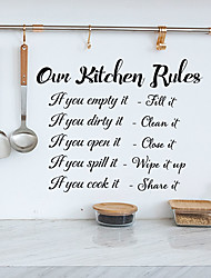 cheap -Kitchen Rules Word Of The Alphabet Can Remove The Background Decoration Of The Kitchen Wall Stickers