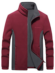 cheap -Men's Women's Fishing Vest Hiking Fleece Vest Winter Outdoor Thermal Warm Windproof Lightweight Breathable Outerwear Winter Jacket Trench Coat Skiing Ski / Snowboard Fishing 88 black 88 Claret 88