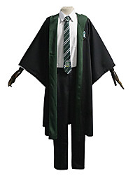 cheap -Harry Potter Slytherin Draco Malfoy Outfits Masquerade Men's Movie Cosplay Vacation Halloween Black Vest Blouse Pants Halloween Carnival Masquerade Polyester / Cloak / Tie / Cloak / Tie