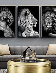 cheap -Wall Art Canvas Prints Animals Home Decoration Decor Rolled Canvas No Frame Unframed Unstretched