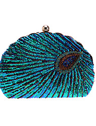 cheap -Women's Bags Polyester Evening Bag Crystals Chain Party / Evening Chain Bag Green Black