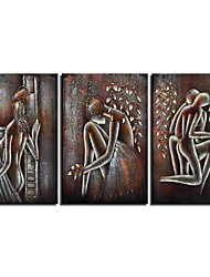 cheap -3 Panels Wall Art Canvas Prints Painting Artwork Picture Abstract Person Home Decoration Decor Rolled Canvas No Frame Unframed Unstretched