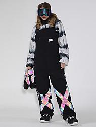 cheap -GSOU SNOW Men's Ski / Snow Pants Ski Bibs Thermal Warm Reflective Waterproof Windproof Winter Pants / Trousers for Snowboarding Ski Mountain / Women's / Breathable