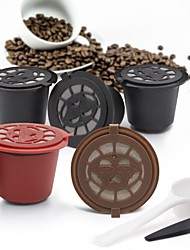 cheap -2 Pcs Reusable Coffee Capsules for Nespresso Herbruikbare Hervulbare Machine Refillable Capsule Filtering Cups Filters