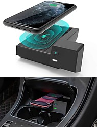 cheap -Car Qi Wireless Wireless Car Charger for Mercedes Benz C-Class GLC Accessories 2021-2015 for Mercedes-Benz C300 C43 AMG C63 AMG C63 AMG S GLC300 GLC350e GLC43 AMG GLC63 AMG GLC63 AMG S Accessories