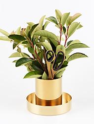 cheap -Nordic Danish Brass Round Pen Holder Metal Flower Arrangement Cup Decoration