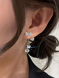 cheap -Women's Earrings Double Twine Bowknot Stylish Artistic Elegant Korean Earrings Jewelry Gold For Party Anniversary Holiday Festival 2pcs