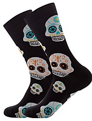 cheap -Fashion Comfort Men's Socks Multi Color Socks Party Medium Party Black 1 3 Pairs