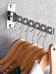 cheap -Clothes Hanger Storage Hanger Wall Hanging Bathroom Stainless Steel Storage Rack Wardrobe Storage and Finishing Rack