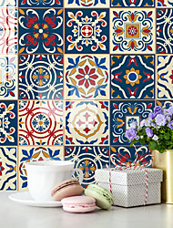 cheap -Thickened Tile Stickers Self-adhesive Paper Bohemian Kitchen Oil-proof And Waterproof Removable Wall Stickers