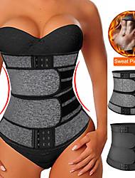 cheap -Shapewear Neoprene Sauna Waist Trainer Corset Sweat Belt for Women Weight Loss Compression Trimmer Workout Fitness