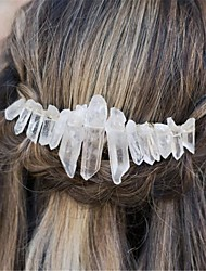 cheap -1 Piece Natural Crystal Headband Popular Crown Headband Moon Hair Accessories Hair Clip