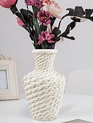 cheap -Plastic Vase Wet And Dry Flower Arrangement Container Nordic Floral Flower Decoration Imitation Rattan Vase