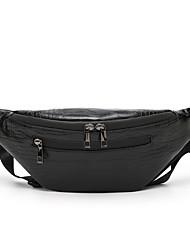 cheap -Unisex Bags PU Leather Fanny Pack Zipper Crocodile Party / Evening Daily Bum Bag Black