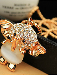 cheap -Pendant Necklace Long Necklace Women's Geometrical Zircon Elephant Fashion Lovely Wedding Gold 60 cm Necklace Jewelry 1pc for Christmas Wedding Street Gift Daily Geometric