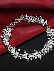 cheap -Women's Charm Bracelet Bead Bracelet Bracelet Tassel Fringe Precious Fashion Copper Bracelet Jewelry Silver For Christmas Party Wedding Daily Work / Silver Plated