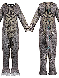 cheap -Godzilla Masquerade Toddler Kid's Boys' One Piece Halloween Party Halloween Halloween Carnival Masquerade Festival / Holiday Polyester Gray Easy Carnival Costumes Animal Fur Pattern