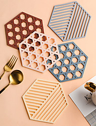 cheap -Nordic Table Mats Potholders Pot Mats Household Kitchens Simple Thickened Anti-scalding Placemats Plate Mats Bowl Mats Tea Coasters