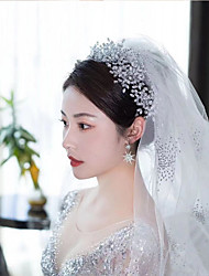 cheap -Bride Super Fairy Queen Wedding Dress Super Flash Hair Band Princess Modeling Wedding Wedding Photo Tiara Crown