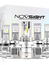 cheap -2pcs NOVSIGHT N30S LED Car Light Bulbs For H1-H3-H4-H7-H11-9005-9006 55W 12000lm LED Headlamps For universal General Motors All years With Set Up video