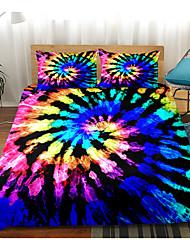 cheap -Print Home Bedding Duvet Cover Sets Soft Microfiber For Kids Teens Adults Bedroom Rainbow Ikat/Tie-dye 1 Duvet Cover + 1/2 Pillowcase Shams