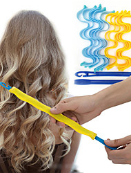 cheap -12PCS Magic Hair Curlers DIY Portable Hairstyle Rollers Sticks Durable Beauty Makeup Curling Hair Styling Tools